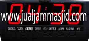 jual jam jadwal sholat digital masjid murah di bogor utara