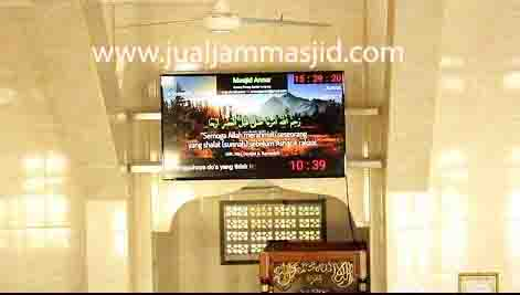 jual jam jadwal sholat digital masjid murah di depok barat