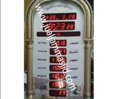 jual jam jadwal sholat digital masjid murah di jakarta pusat terbaik