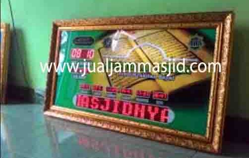 jual jam jadwal sholat digital masjid running text di kebagusan Jakarta