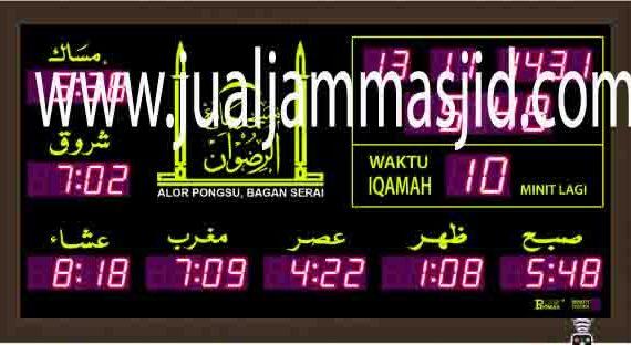 jual jam jadwal sholat digital masjid running text di pluit Jakarta