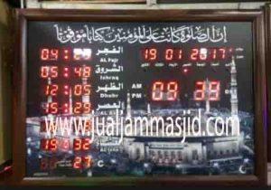 jual jam jadwal sholat digital masjid running text di pulau tidung Jakarta