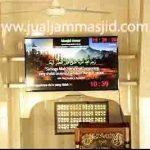 jual jam jadwal sholat digital masjid running text di senayan jakarta