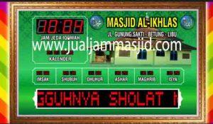 jual jam jadwal sholat digital masjid running text bandung jawa barat
