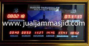 jual jam jadwal sholat digital masjid running text di glodok Jakarta