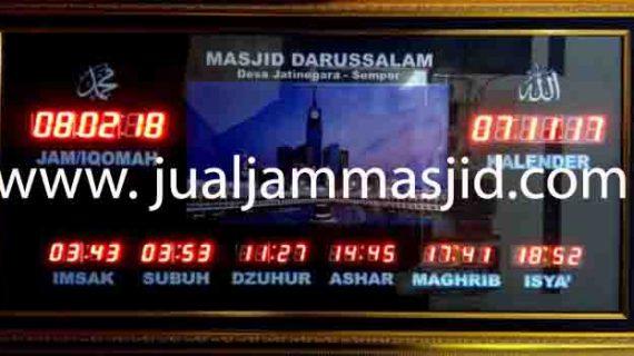 jual jam jadwal sholat digital masjid running text di kedoya jakarta