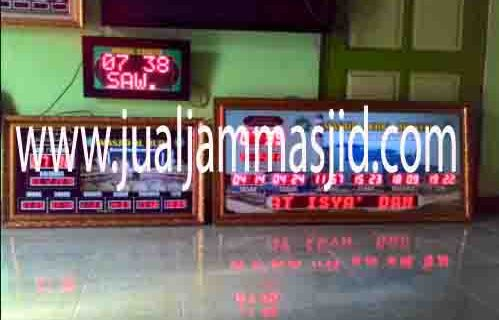 jual jam jadwal sholat digital masjid running text di pulau pari jakarta