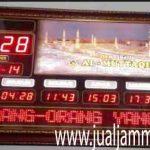 jual jam jadwal sholat digital masjid running text di semanggi jakarta