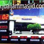 penjual jam jadwal sholat digital masjid running text di bekasi timur