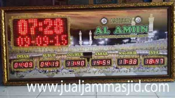 penjual jam jadwal sholat digital masjid running text di bekasi utara
