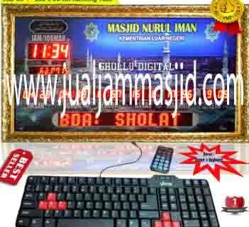 penjual jam jadwal sholat digital masjid running text di Jakasampurna Bekasi