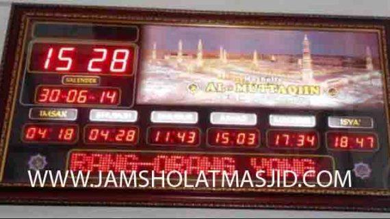 penjual jam jadwal sholat digital masjid running text di Jatirasa bekasi
