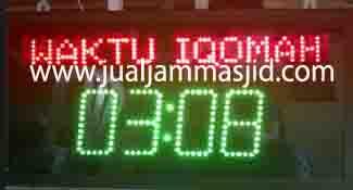 penjual jam jadwal sholat digital masjid running text di Jatibening bekasi