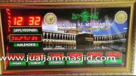 penjual jam jadwal sholat digital masjid running text di Jatikarya Bekasi