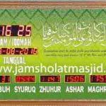 penjual jam jadwal sholat digital masjid running text di Jatimurni bekasi
