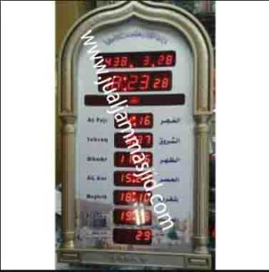 penjual jam jadwal sholat digital masjid running text di Jatiwaringin bekasi