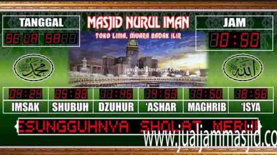 lampu digital masjid besar
