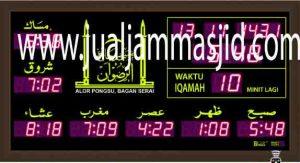 jam digital masjid bekasi, jawa barat