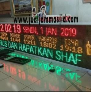 menjual jam jadwal sholat digital masjid running text di balikpapan pusat