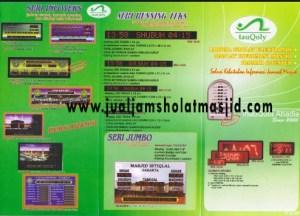 menjual jam jadwal sholat digital masjid running text di Harapan Baru Bekasi
