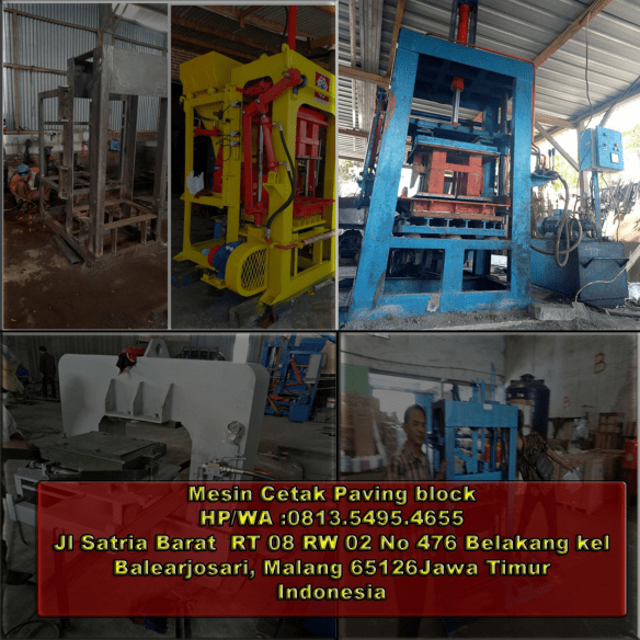 jual mesin paving block di Bima