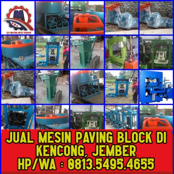 JUAL MESIN PAVING BLOCK DI KENCONG JEMBER