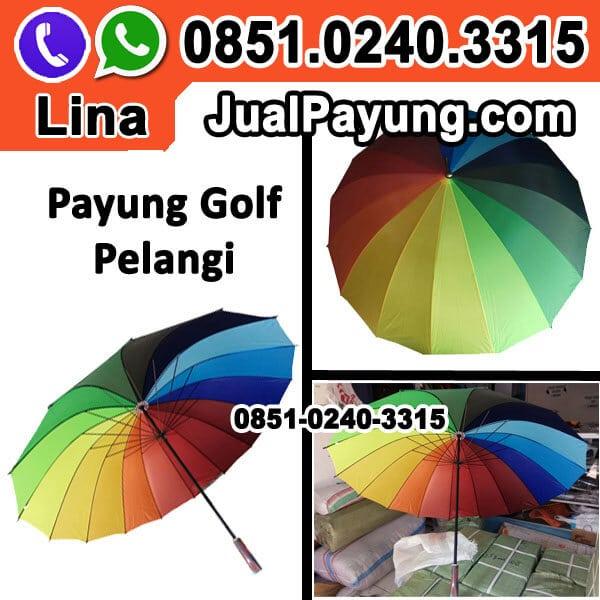 Grosir Payung Golf Pelangi Murah