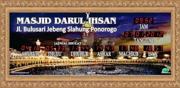 jual jam digital masjid