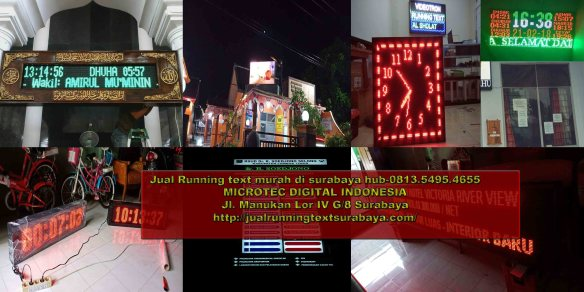 Jual running text di Sampang