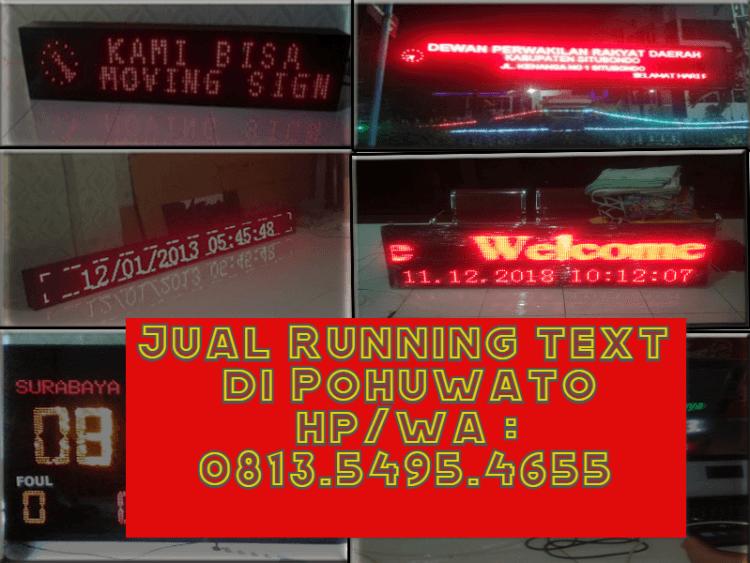 Jual Running text POHUWATO II Jadwal sholat
