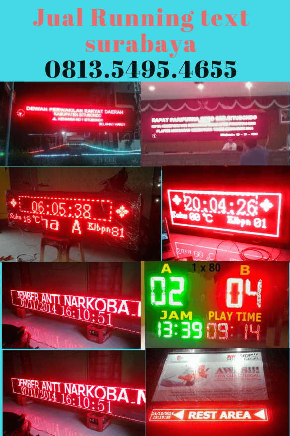Jual Running text Pohuwato