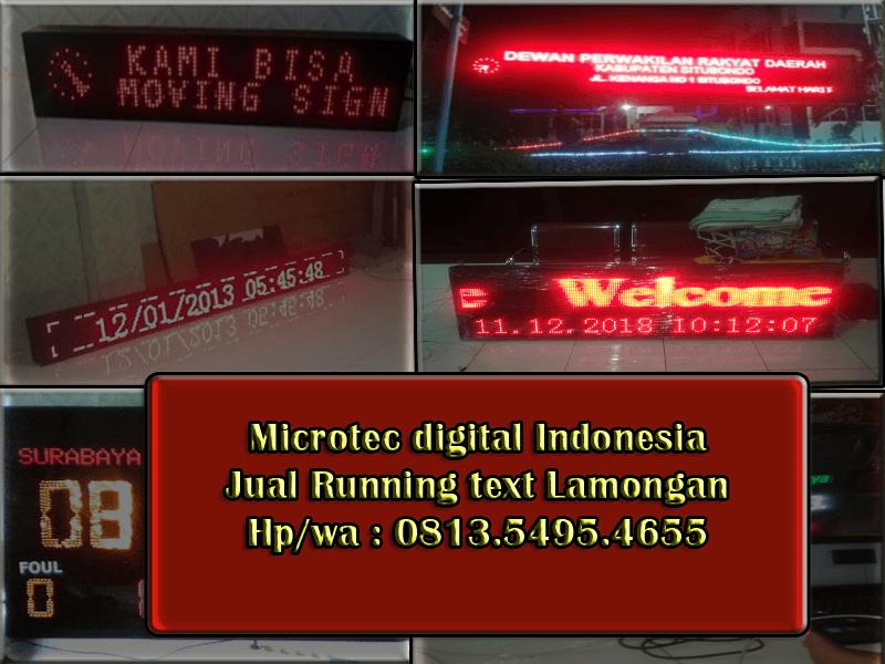 Jual Running text Lamongan II Jadwal sholat 0813.5495.4655