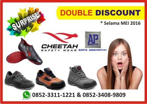 Double Discount Sepatu Safety CHEETAH & AP BOOTS All Bike, Mei 2016
