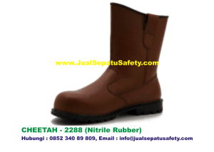 Sepatu Safety Shoes CHEETAH 2288 Boot Nitrile Rubber