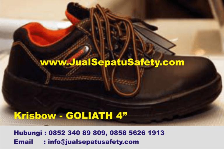 Krisbow Goliath 4 inch-Safety Shoes Kulit Pendek Bertali,HP.0852 340 89 809