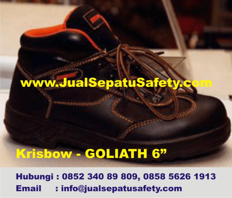 Krisbow Goliath 6 inch-Sepatu Semi Boot Safety Bertali,HP.0852 340 89 809