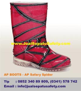 Sepatu AP BOOTS Anak - AP Safary Gambar Spidermen