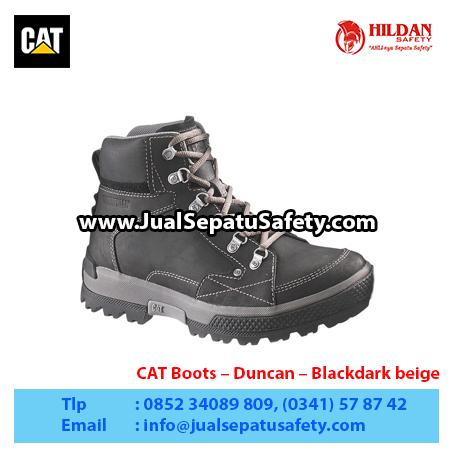 CAT Boots – Duncan – Blackdark beige1