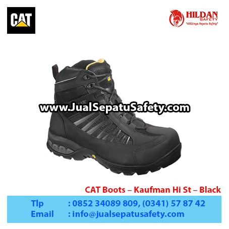 CAT Boots – Kaufman Hi St – Black