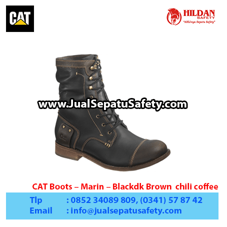 CAT Boots – Marin – Blackdk Brown chili coffee1