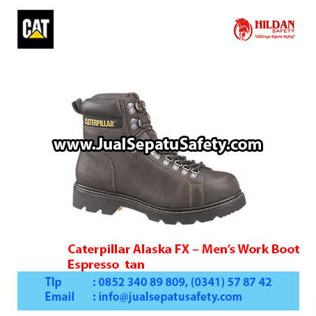 Caterpillar Alaska FX – Men's Work Boot – Espresso tan copy1