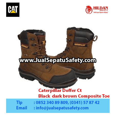 Caterpillar Doffer Ct – Black dark brown Composite Toe1