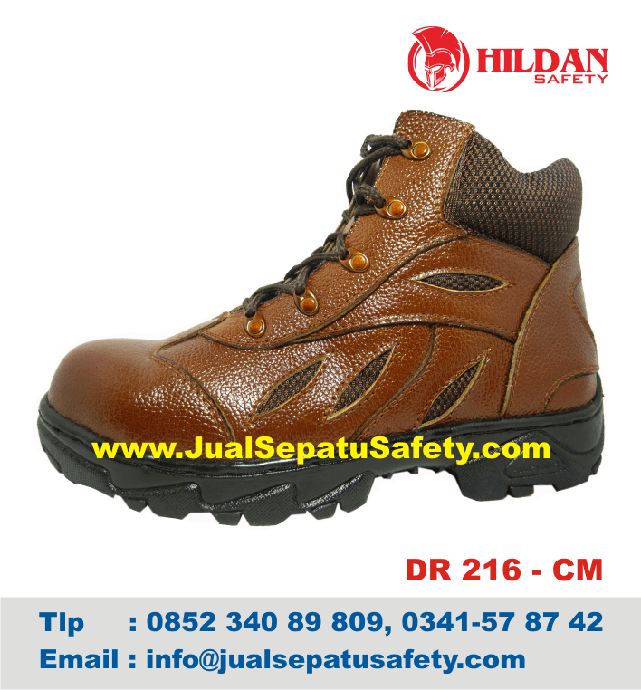 DR 216 CM - Gambar Sepatu HIKING GUNUNG Safety Kulit ASLI Coklat Muda, HP.0852 340 89 809