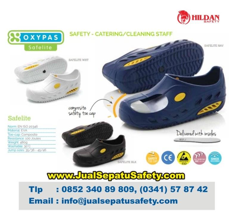 Katalog Lengkap OXYPAS SAFELITE, Safety SHOES Staff Medis Kebersihan dan Catering Rumah Sakit