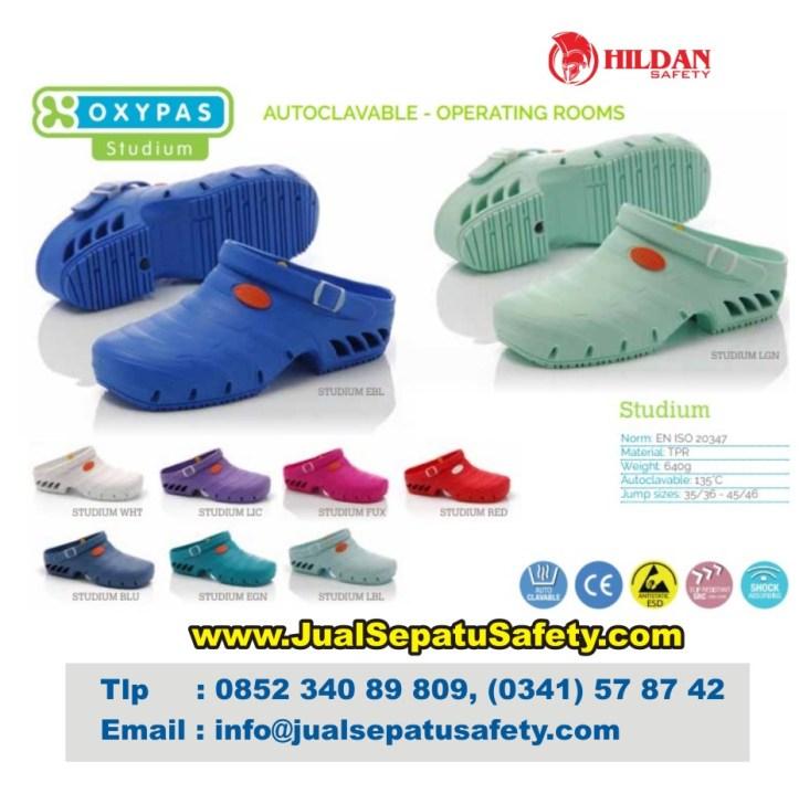 Katalog Lengkap OXYPAS STUDIUM, Safety Shoes Operator Autoclave dan Kamar Operasi