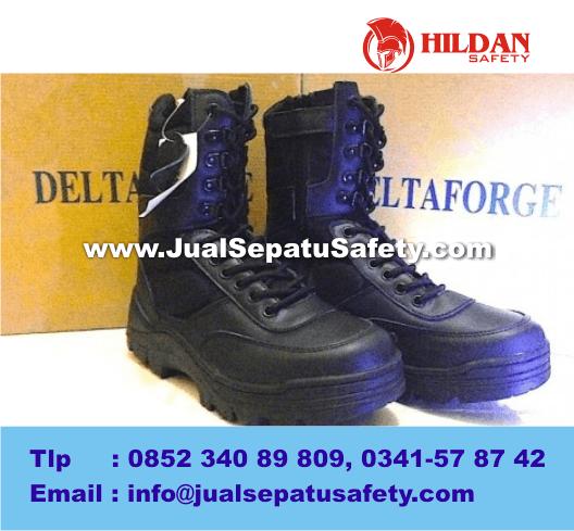 Sepatu Impor BOOTS DELTA FORGE Tactical Series, BLACK HITAM