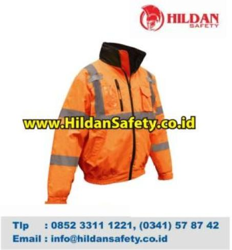 JS.008, Jaket Lapangan Orange Scotlight Silver Gelap