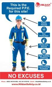 Poster Safety APD (Alat Perlindungan Diri) HILDAN Safety