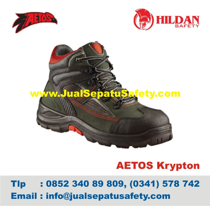 Sepatu Safety Shoes AETOS KRYPTON 813188 Charcoal