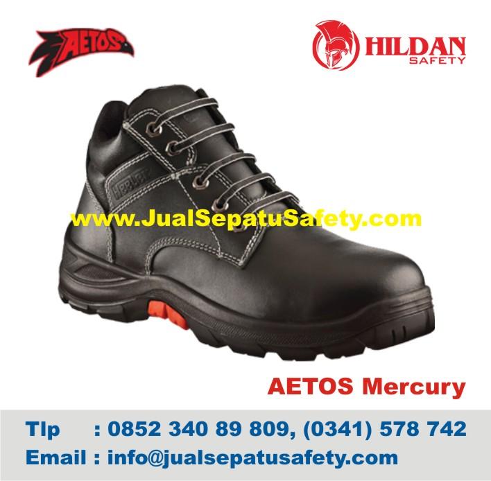 Sepatu Safety Shoes AETOS Mercury 813111 Black